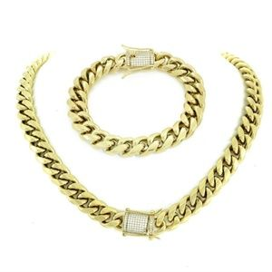 Harlembling 14k Gold Cuban Miami Bracelet & Chain